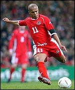 Earnshaw scored his second Wales goal in four games