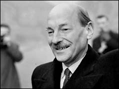 Clement Attlee on the eve of Labour's victory
