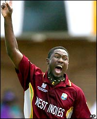 Wavell Hinds takes three wickets for the West Indies as New Zealand end their innings on 241-7
