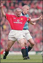 Roy Keane (left) and Alfie Haaland have had a fierce war of words
