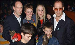 The surviving members of The Clash and their children