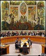 A Security Council meeting
