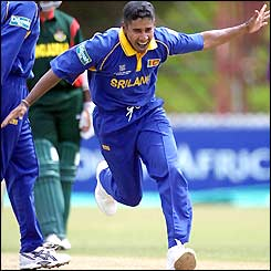 Having won the toss and put Bangladesh in to bat Sri Lanka get off to the best possible start with Chaminda Vaas making World Cup history with a hat-trick in his first three balls