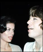 At wedding to Mick Jagger in 1971