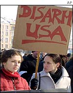 Anti-war protesters in Bosnia