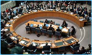 The UN Security Council hear Hans Blix's report