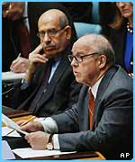 Hans Blix speaks to the Security Council