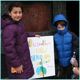 Nuriye, 10, came from Brighton with her parents and 7-year-old brother Cem