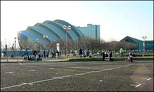 The SECC, where the prime minister was speaking