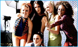 The girls for the launch of Spiceworld the Movie