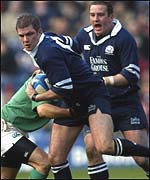Andy Craig in possession for Scotland