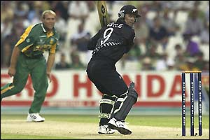 Nathan Astle hits Jacques Kallis square of the wicket