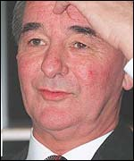 Brian Clough scratches his head