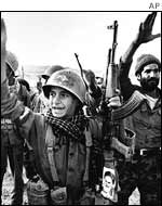 Iranian soldiers in 1982