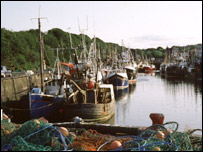 Fishing boats in Eyemouth