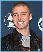 Justin Timberlake topped the men's poll