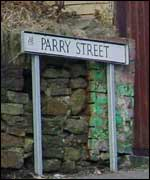 Parry Street sign