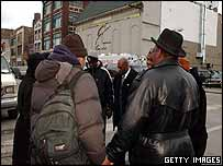 Chicago ministers pray outside the nightclub