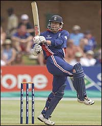 England opener Nick Knight strokes the ball to the boundary for four