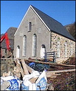 Building work at chapel