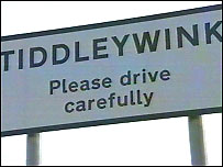 Tiddleywink sign