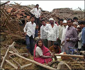 In Madhya Pradesh whole villages have been destroyed by the floods