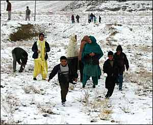 Children play in the hills around Quetta