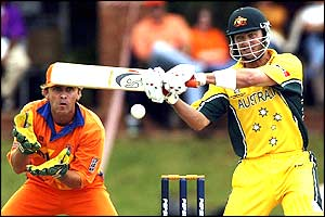 Damien Martyn top scores for Australia with 67 not out