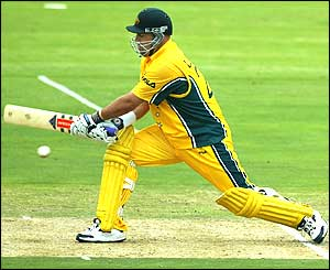 Darren Lehmann of Australia on his way to a score of 29 not out
