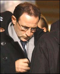 Celtic boss Martin O'Neill makes his way to his seat in the stand