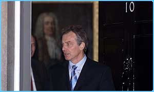 Tony Blair in Downing Street