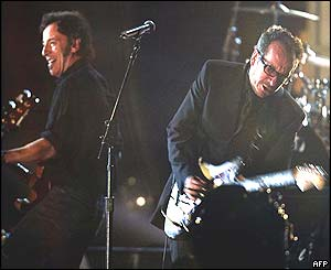 Bruce Springsteen and Elvis Costello