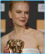 Nicole Kidman with her Bafta for best actress