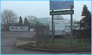 The entrance to Leavesden Studios - not much going on