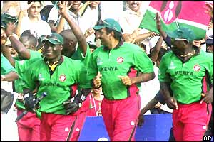 Kenya do a lap of honours in Nairobi after beating Sri Lanka to claim their best win ever