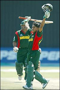 Mohammad Ashraful of Bangladesh reaches his fifty during