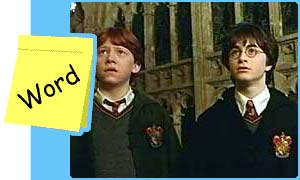 Ron and Harry in The Chamber of Secrets
