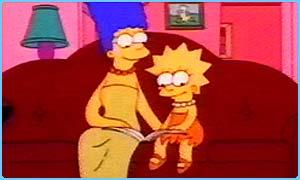 Marge und Lisa beim Lesen in der Simpsons-Episode