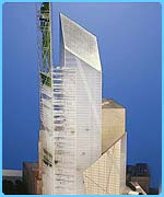 The tower of Daniel Libeskind's design for Ground Zero