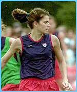 Mia Hamm is a huge star in the US