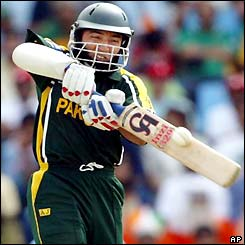 Saeed Anwar plays an attacking shot against India