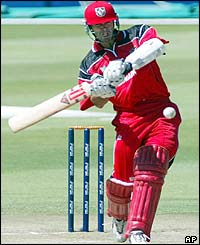 Canada opener John Davison brings up his fifty in just 26 balls