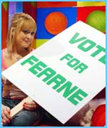 Fearne tries to win your votes