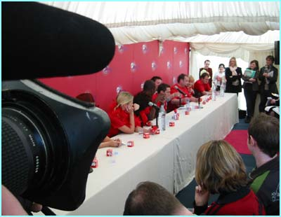 But back inside, it's all happening at the press conference, where the stars confessed all before the big night on Friday