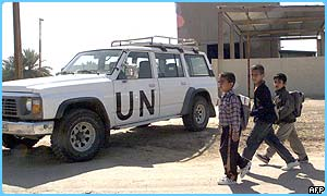 The UN are looking for weapons in Iraq