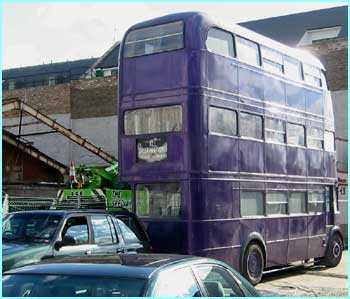We snuck down to South London, where scenes from the third Harry Potter movie were being shot.  Here, the Knight Bus...
