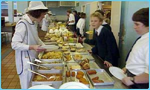 Lots of school dinners are still loaded with fat