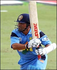 Sachin Tendulkar in full flow against Pakistan