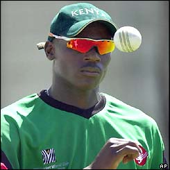 Collins Obuya has bowled well for Kenya so far