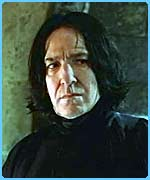Alan Rickman as nasty Professor Snape